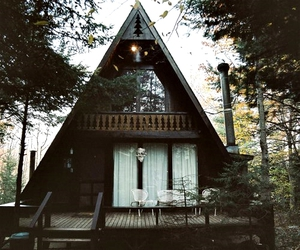 house, forest, and home image