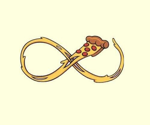 pizza, wallpaper, and infinity image