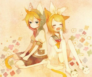 vocaloid, rin, and len image