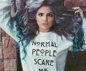 hair, blue, and crazy image