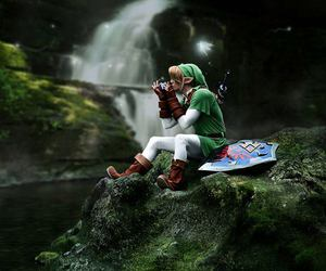 boy, cosplay, and green image
