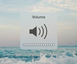 volume, music, and sea image