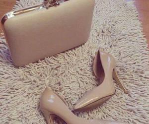 fashion, high heels, and bag image