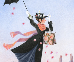 illustration, Mary Poppins, and genevieve godbout image