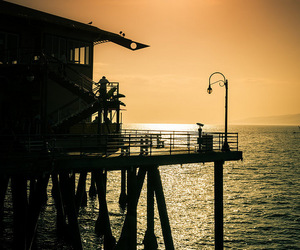california, santa monica pier, and house image
