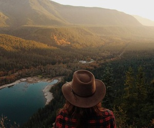 mountains, nature, and people image