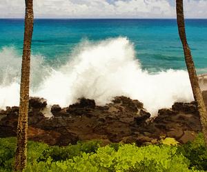 blue, hawaii, and landscape image