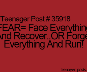 fear, funny, and teenager post image