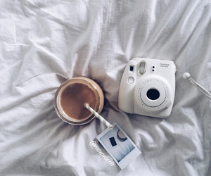 bed, white, and camera image