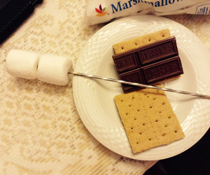 chocolate and marshmallows image