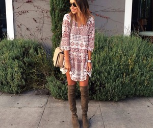 clothes, fashion, and over the knee boots image