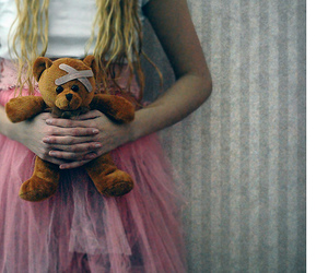 bear, girl, and hands image