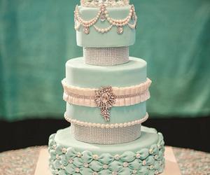 cake, blue, and pastel image