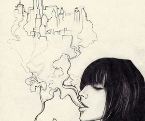 smoke, art, and city image