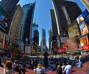 city, people, and new york image
