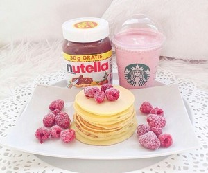 nutella, starbucks, and food image