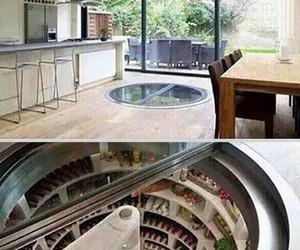 kitchen, fridge, and house image