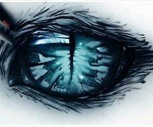 eye, art, and blue image