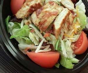 fitness, salad, and healthy food image