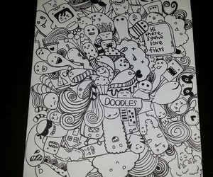 doodle, drawing, and love image