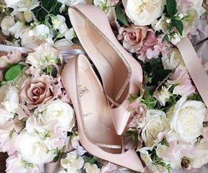 flowers, shoes, and heels image