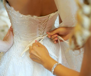 beautiful, bride, and wedding dress image