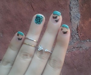 ade, nail art, and butterfly image