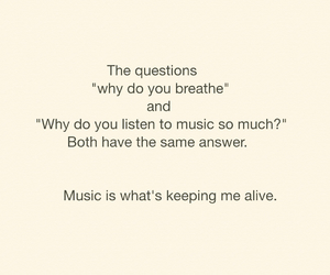 alive, music, and quote image