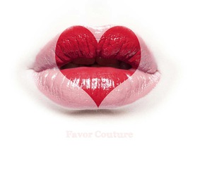 heart, lips, and red image