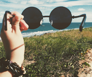 sea, glasses, and hipster image