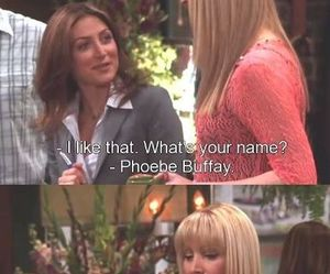 funny, phoebe, and friends image