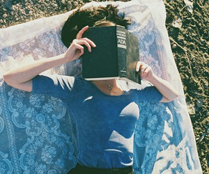 book, girl, and hipster image