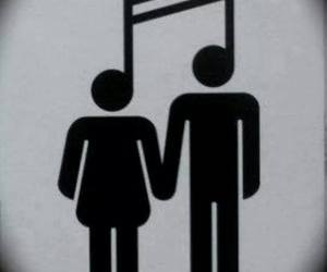 music, love, and couple image