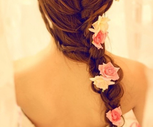 beautiful, braid, and girl image