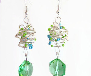 crystal, earrings, and green image