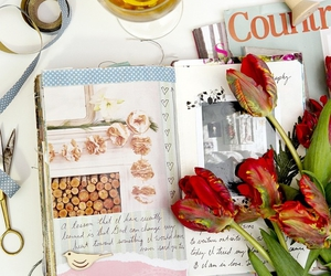 flowers, illustrations, and scrapbook image