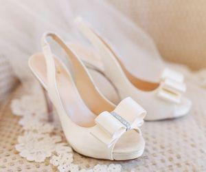 beautiful, shoes, and wedding image
