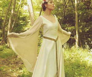 dress, faery, and forest image