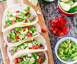 tacos, food, and avocado image