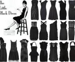 dress, little black dress, and audrey hepburn image