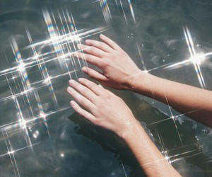 hands, pale, and water image