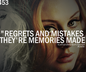 Adele, mistakes, and quote image