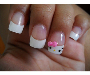 nails, pretty, and hello kitty image
