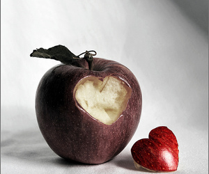 apple, heart, and friendship image