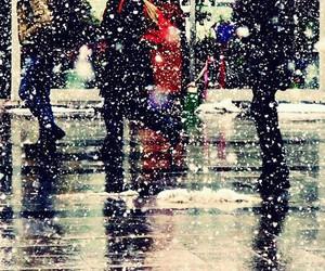 city, rain, and street image