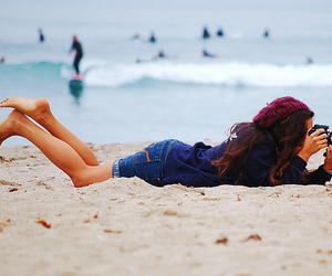 girl, beach, and photography image