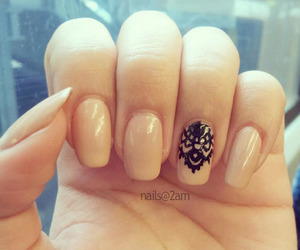 nails, black, and lady image