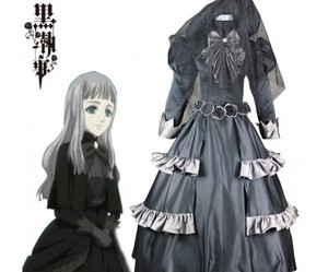 black, cosplay costume, and black butler image