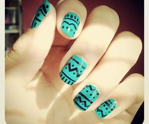 nails, tribal, and black image