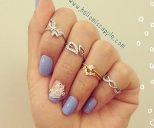 rings, nail art, and love image
